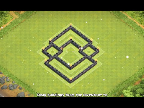 Clash of clans th5 best hybrid defence base youtube