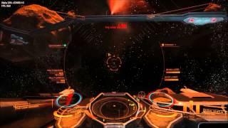 Elite:Dangerous Alpha 3.04 - Soloing an Anaconda in the asteroid belt.
