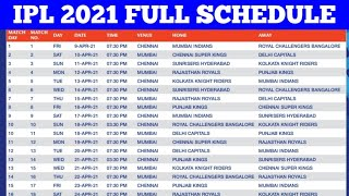 IPL 2020 NEW SCHEDULE & TIME TABLE : BCCI FINALLY ANNOUNCES RELEASE DATE OF IPL 2020 SCHEDULE