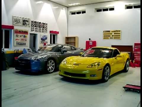 1:18 Diecast Cars & Garage Diorama - YouTube
