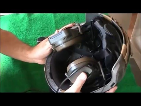 ZTac Comt Headset, rail adapter installation in fast base helmet