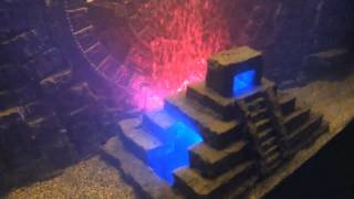 My Diy Custom 3d Mayan Aquarium Background W/ Calendar & Pyramid