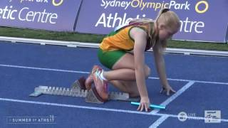 U13 Girls 4x100m Relay   Final   Asics Australian Little Athletics Championships