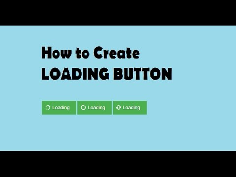 how to make animated loading button html with css youtube