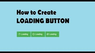 How to make Animated Loading Button( Html With Css)
