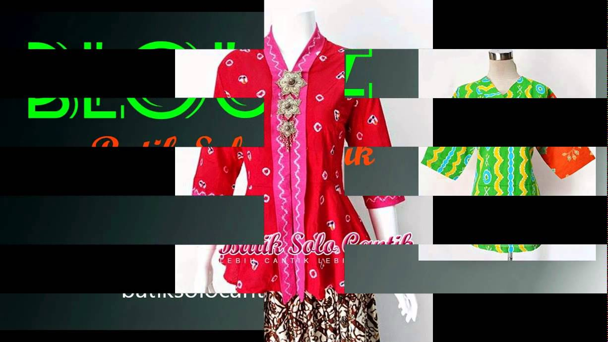 BATIK JUMPUTAN MODEL BAJU KERJA 2015  YouTube
