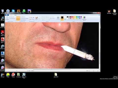 уменьшить размер фото стандартными прогами Windows7 (Paint)
