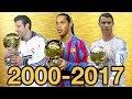 Ballon d'Or Top Tens From 2000-2017