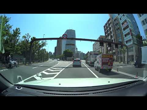 Tokyo drive 4K 東京 ドライブ 茅場町 千駄ヶ谷