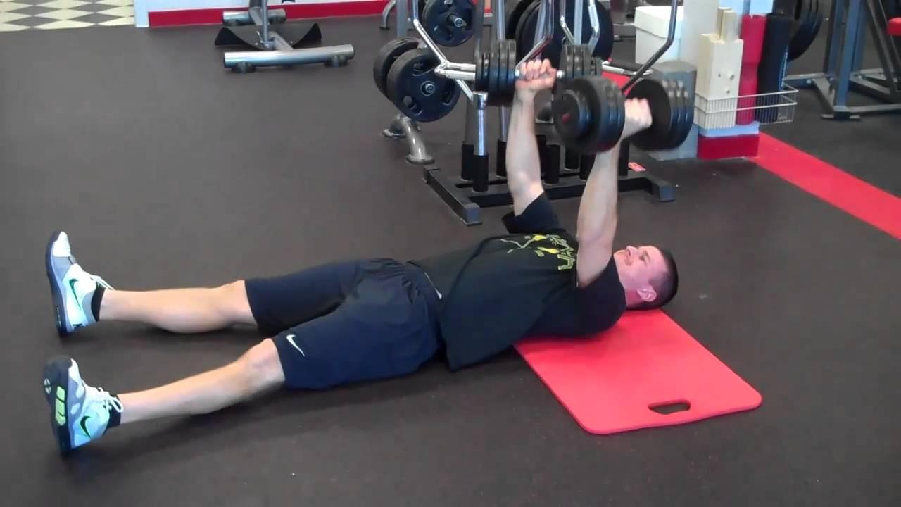 DB Floor Press (Neutral Grip)