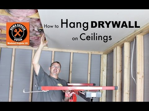 how-to-hang-drywall-ceilings----by-home-repair-tutor