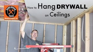 How to Hang Drywall Ceilings -- by Home Repair Tutor