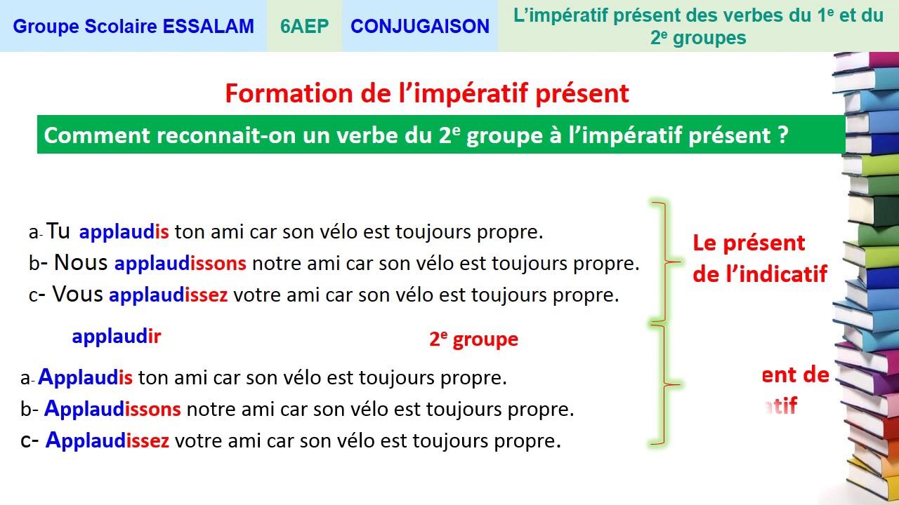 L Imperatif Present Des Verbes Du 1er Et Du 2eme Groupe Conjugaison 6ap Youtube