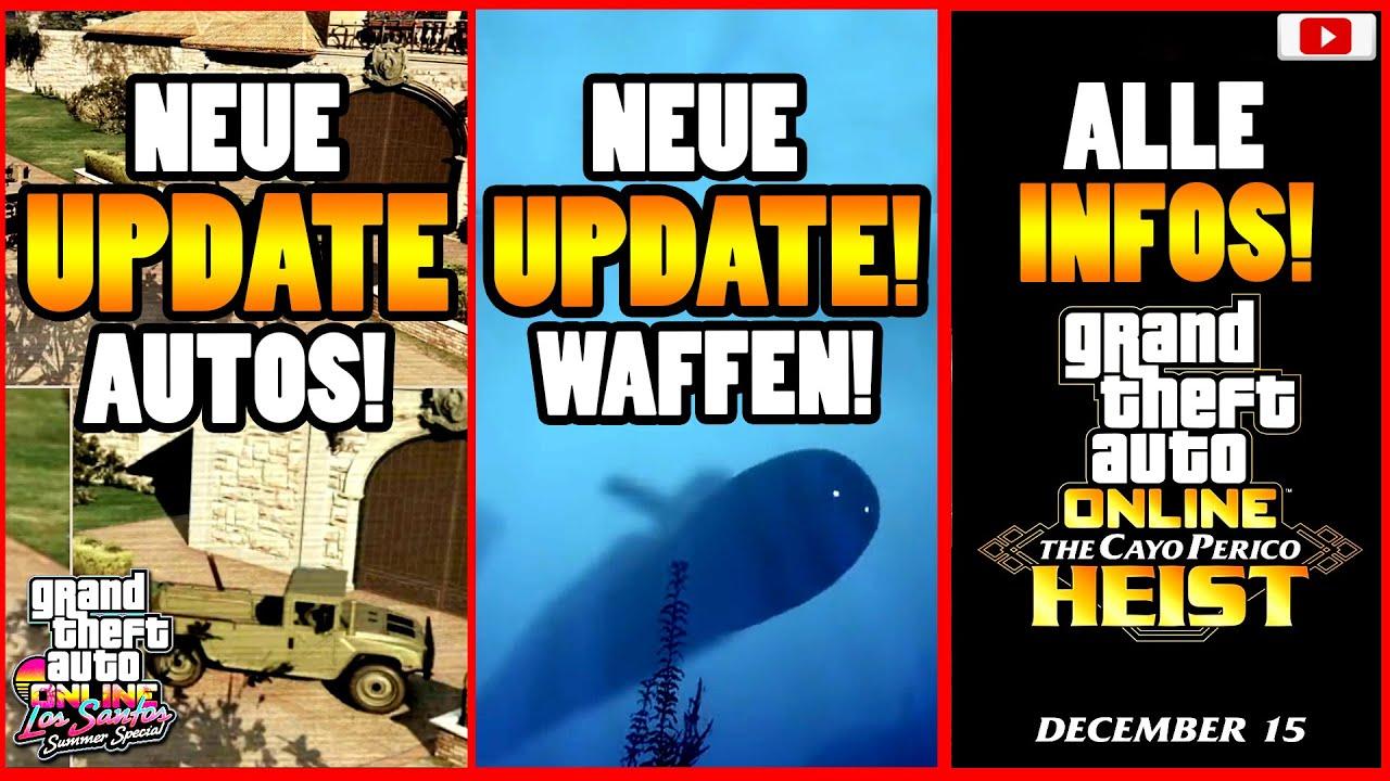 🙌Alle Neuen Inhalte!🙌 NEUE UPDATE AUTOS; WAFFEN; INFOS! + Mehr! [GTA 5 Online CAYO PERICO HEIST DLC]