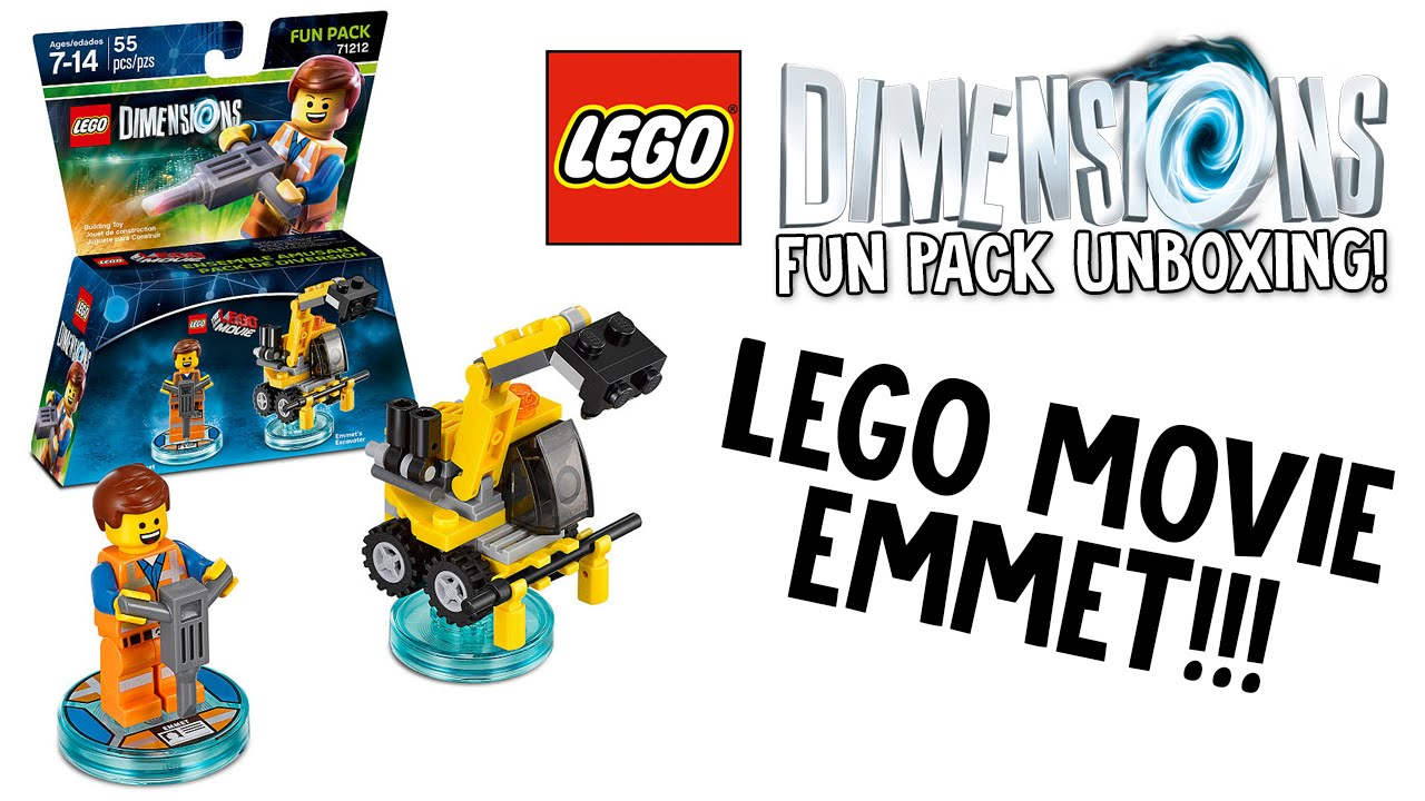 LEGO DIMENSIONS LEGO MOVIE EMMET FUN PACK UNBOXING
