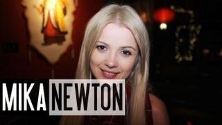 Mika Newton - Chinese Restaurant Before Her Trip to China