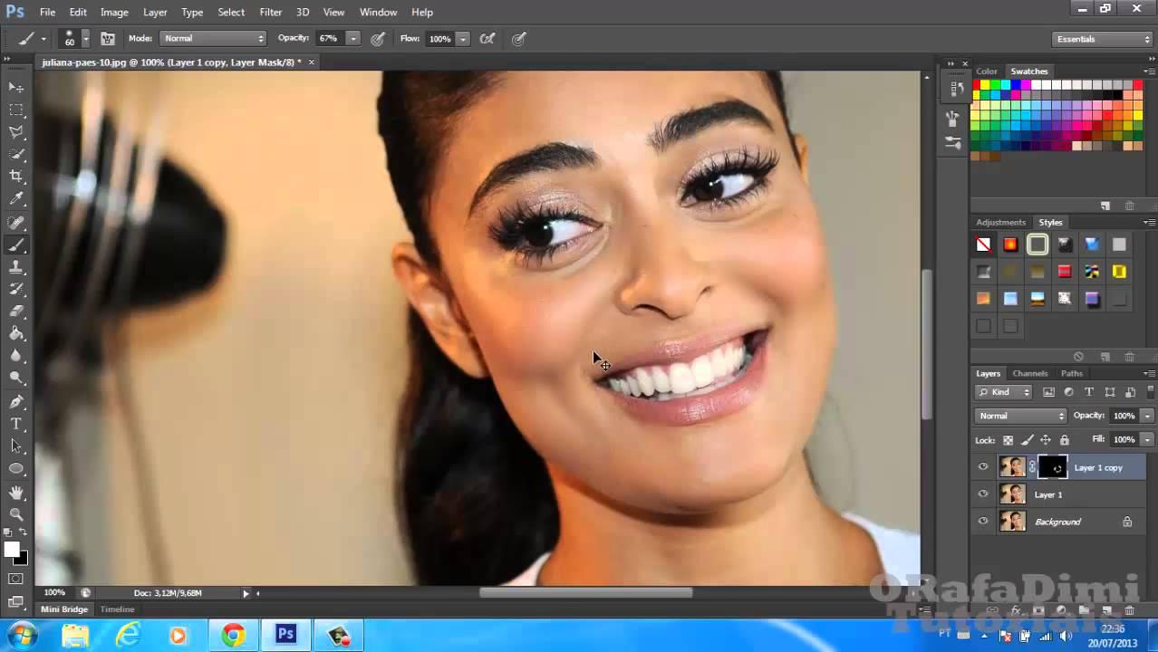 Photoshop Cs6 Como Suavizar Tracos De Expressao E Retirar