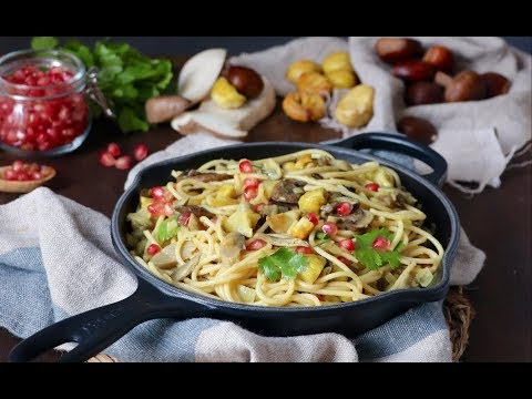 Pasta con setas Bolettus y castañas   #DeliciousMondays   Delicious Martha