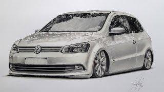 VW Gol Trend G6 AirSuspension   Dibujo Realísta SPEED DRAWING