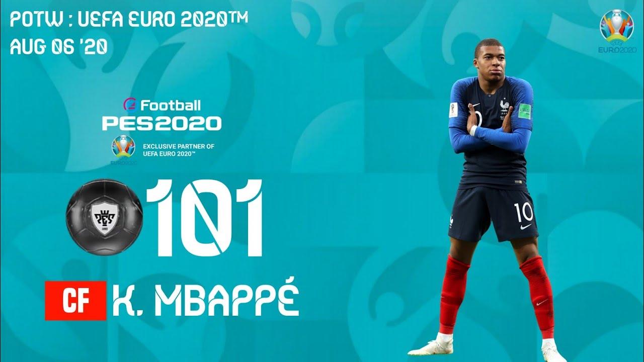 POTW UEFA EURO 2020 RO16 AUG 06 '20 PES 2020 MOBILE [PREDICTION]