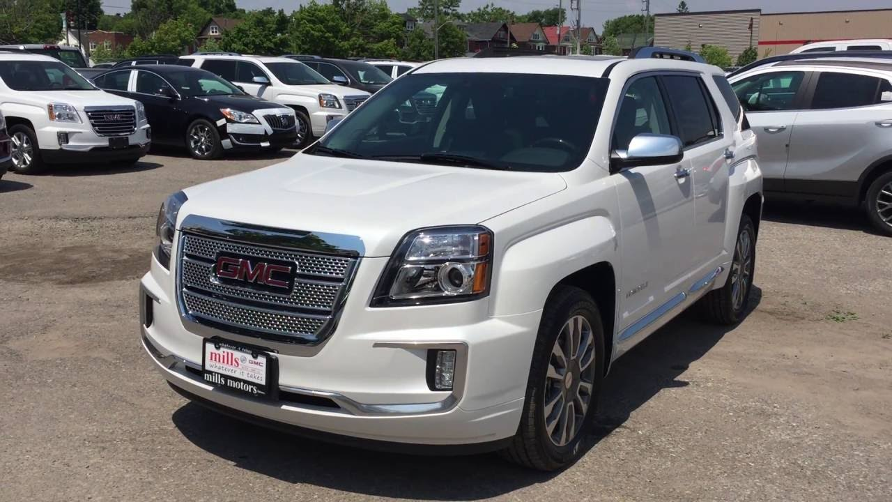 2017 Gmc Terrain Denali Awd White Sunroof Oshawa On Stock