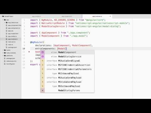 Using Modal Dialogs In A NativeScript Angular Mobile Application