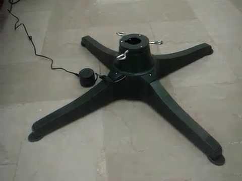 Espectacular base giratoria para rbol navidad - Arbol artificial de navidad ...