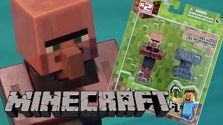 minecraft toy village blacksmith overworld unboxing