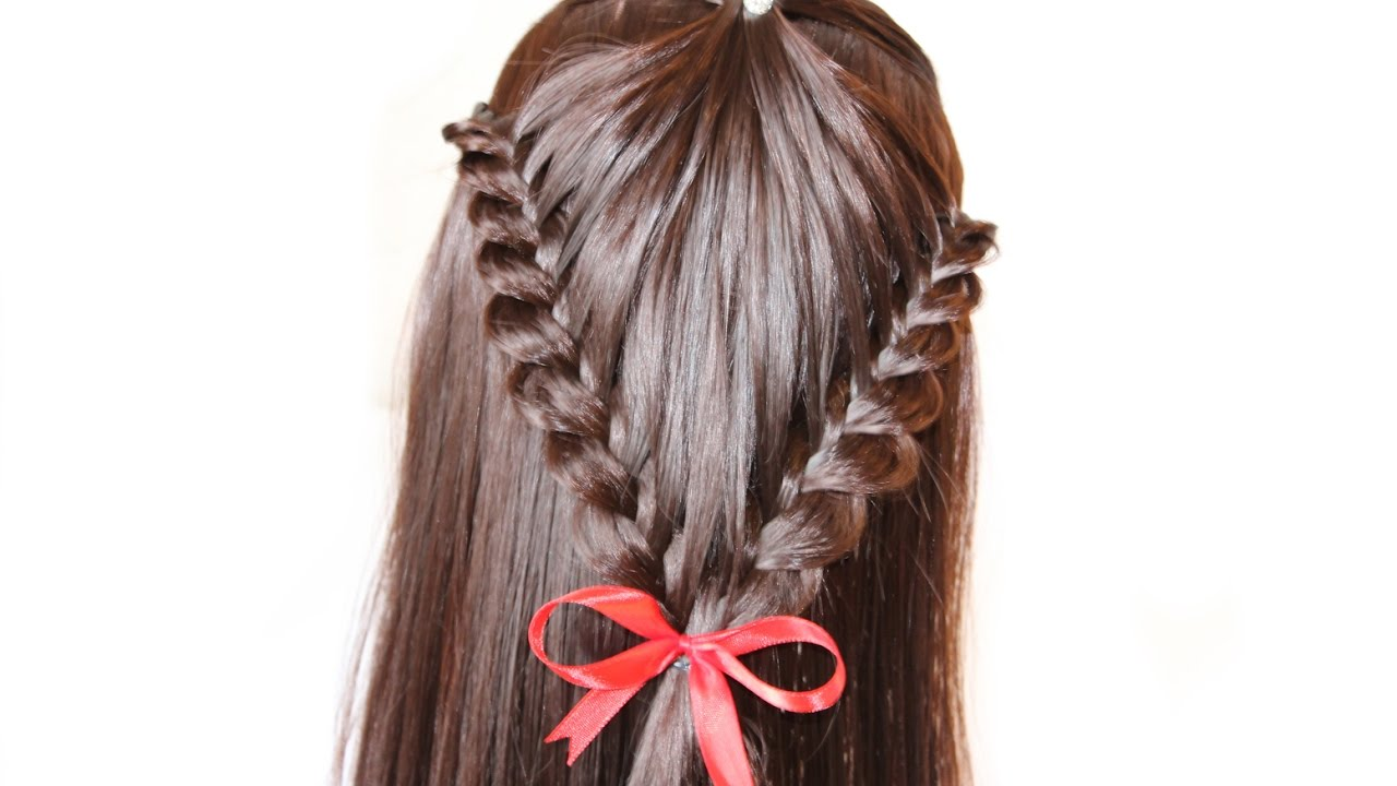 simple and very beautiful hairstyle for medium hair ★ hairstyles to school