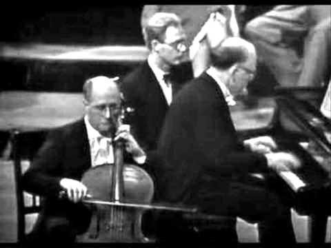 Brahms Cello Sonata opus 38 Rostropovich Richter   1. Movement