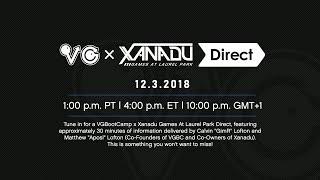 VGBootCamp x Xanadu Games Direct | 12.3.2018