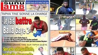 "Tapha Tine appelle en direct ""On m'a trahi contre Balla Gaye"" Revue de presse Lutte TV du 21 janvier"