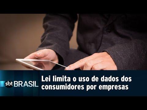 Lei limita o uso de dados dos consumidores por empresas | SBT Brasil (14/08/18)