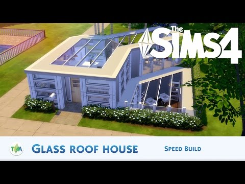 The sims 4 glass roof house speed build youtube
