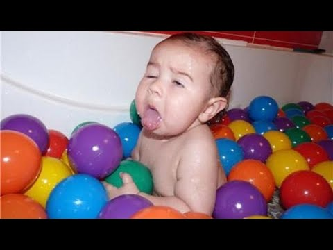 Hilarious Baby Playing With Balls - Funny Baby Videos