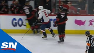Alex Ovechkin Mocks Hurricanes With Chicken Flap After Dougie Hamilton Avoids Hit