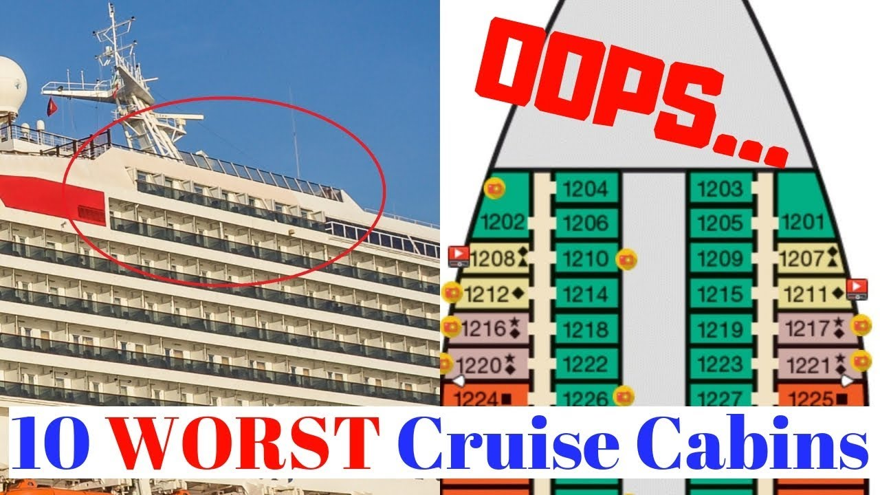 10 Worst Cruise Cabins on a Ship ~ How to Avoid Bad Staterooms