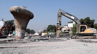 Nagpur Metro - Excluosve video of Chatrapati Flyover 1st Pier Dismnatling