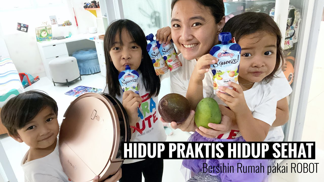 Bersihin Rumah di Bantu ROBOT   Hidup Sehat dan Praktis ft. Cimory Yoghurt Squeeze