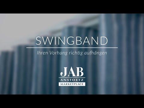 Vorhang mit Swingband richtig aufhängen - JAB ANSTOETZ Onlineshop