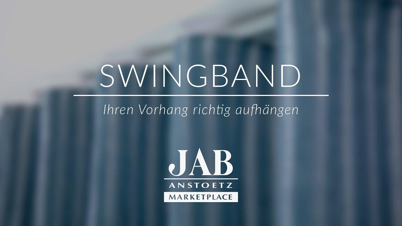 Vorhang Aufhängen vorhang mit swingband richtig aufhängen jab anstoetz onlineshop