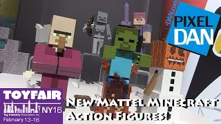 Mattel Minecraft New Action Figures and Playset at Toy fair 2016!
