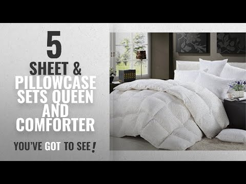 top-10-sheet-&-pillowcase-sets-queen-and-comforter-[2018]:-1200-thread-count-full-/-queen-size