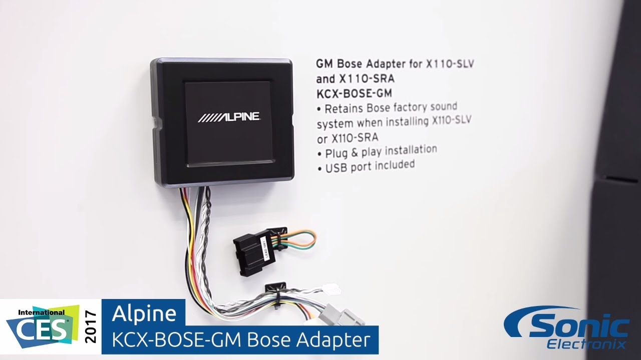 Alpine Kcx Bose Gm Adapter For Trucks Ces 2017 Bmw Sra Wiring Harness