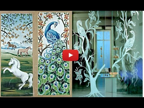 Beautiful Glass painting glass etching catalog collections part 1   msk art point