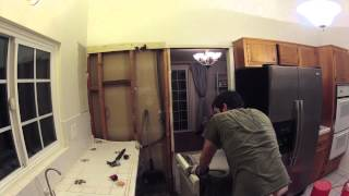 Kitchen Remodeling - Day 1 of 17 - Demolition and Opening Up Wall