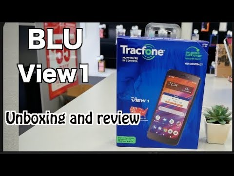 BLU View 1 Unboxing and Review For Tracfone