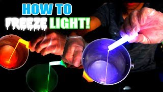 How to FREEZE LIGHT and STOP TIME Using Liquid Nitrogen! (INCREDIBLE SCIENCE EXPERIMENT!) + Giveaway
