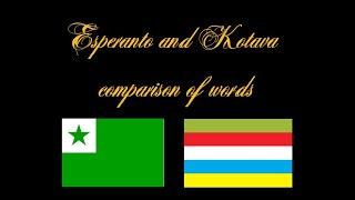 Languages Esperanto and Kotava