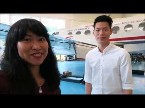 Touring the aircraft hangar on campus - Student Vlogger Ira